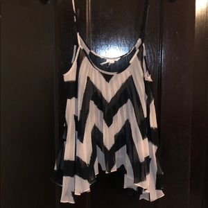 BCBGeneration pink and black tank top, size XS